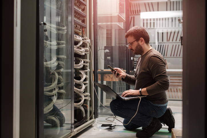 Managed Services Engineers in Server Room
